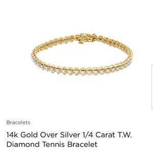 Jewelry - Stunning tennis bracelet GOLD ONE ONLY 😊💕